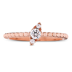 Aerial Beaded Stackable Band - Regal Angle