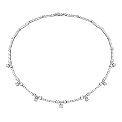 Aerial Diamond Line Necklace