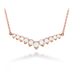 Aerial Diamond V Necklace