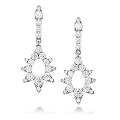 Aerial Pointed Diamond Drop Earrings