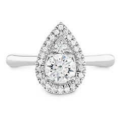 Destiny Teardrop Shape Halo Engagement Ring
