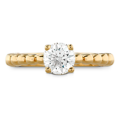 HOF Signature Beaded Solitaire Engagement Ring
