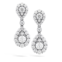 HOF Teardrop Halo Double Drop Earrings
