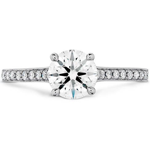 Illustrious Engagement Ring Diamond Intensive Band
