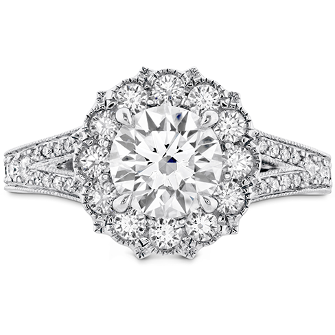 Liliana Halo Engagement Ring Dia Band