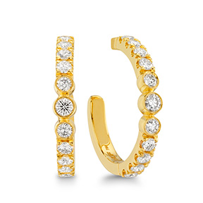 Copley Bezel Hoop Earrings