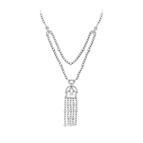 Copley Tassel Diamond Necklace