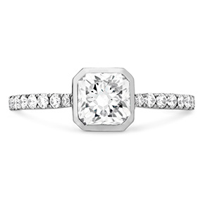 Deco Chic DRM Bezel Engagement Ring