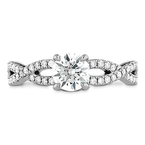 Destiny Twist Engagement Ring - Diamond Band