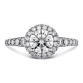 Transcend Premier HOF Halo Engagement Ring