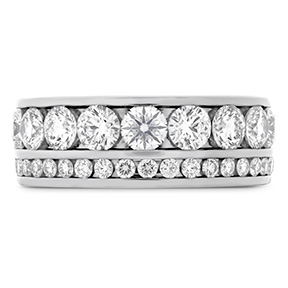 HOF Two Row Channel Diamond Band