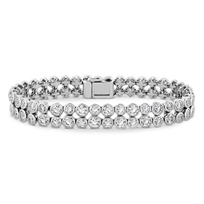 HOF Double Bezel Diamond Bracelet