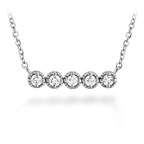Liliana Milgrain Diamond Bar Necklace