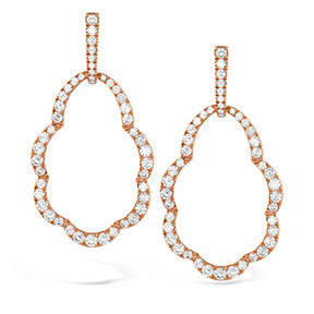 Lorelei Open Drop Diamond Earrings