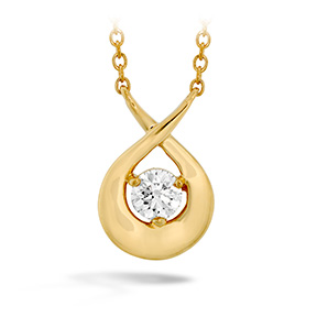 Optima Single Diamond Pendant