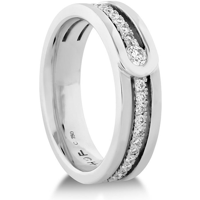 Coupled Encompass Diamond Line band 6mm